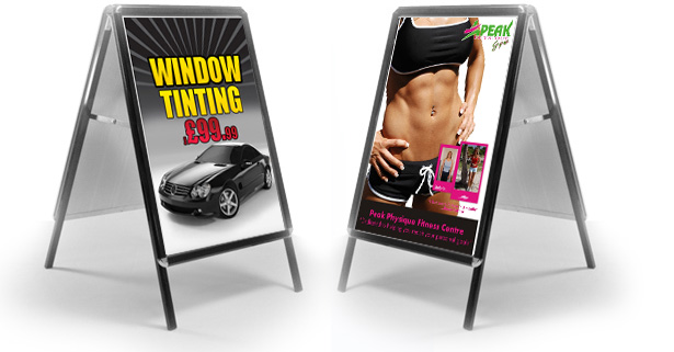A-Board Signs, Pavement Signs, Heavy Duty Sign, A1 Posters, A2 Posters, A3 Posters